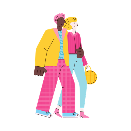 Husband and wife Illustration