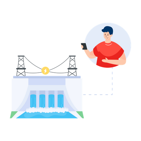 Hydropower Illustration