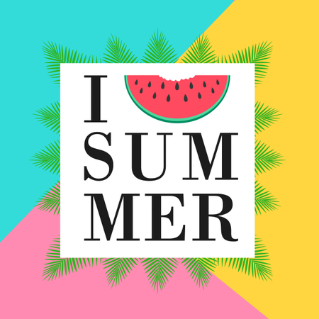 I love summer concept Illustration