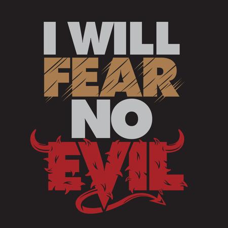 I Will Fear No Evil Illustration