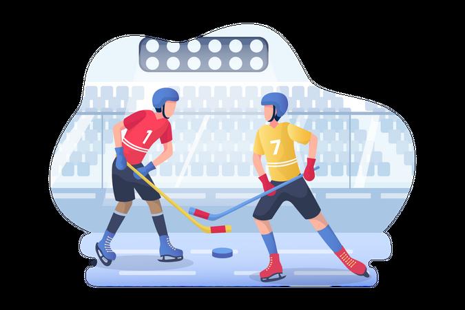 Ice hockey Illustration
