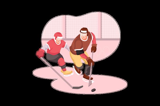 Ice Hockey Game Illustration