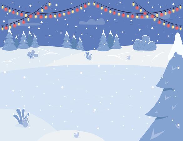 Ice rink Illustration