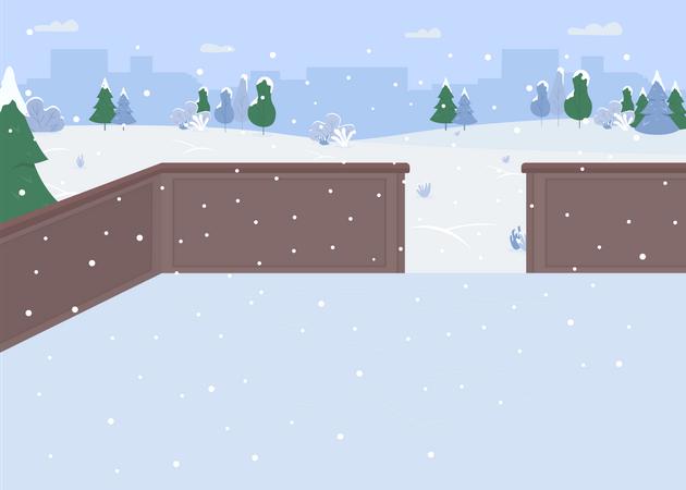 Ice skating Illustration