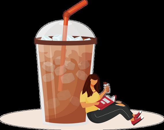 Iced americano Illustration
