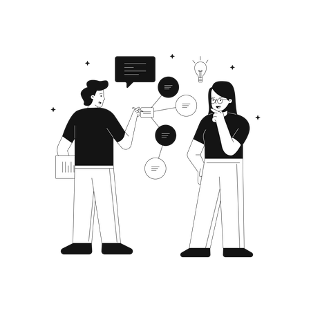 Idea generating for different purpose of business Illustration
