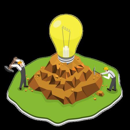 Idea mining Illustration