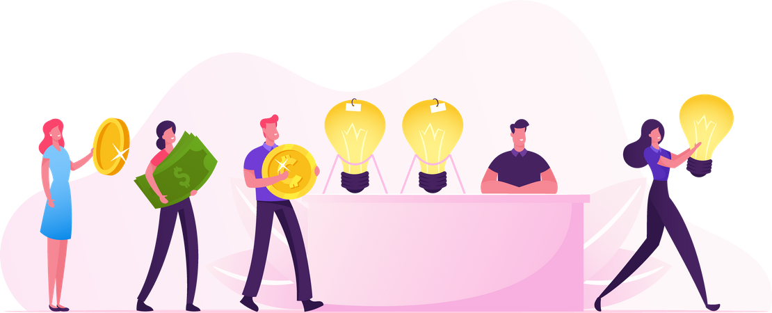 Idea Sale Illustration