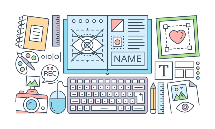 Identity And Brand Design Illustration