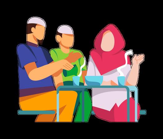 Iftar celebration Illustration