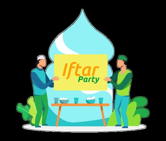 Iftar Party Illustration