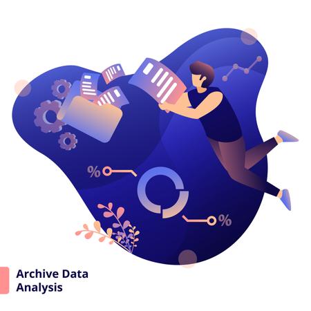Illustration Archive Data Analysis Illustration