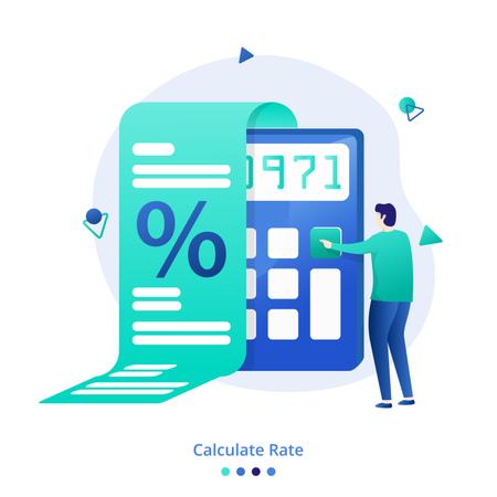 Illustration Calculate Rate Illustration