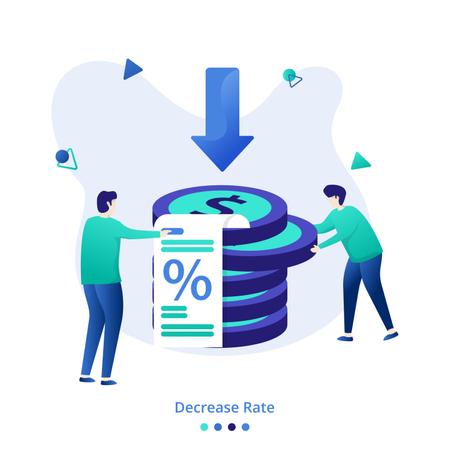 Illustration Decrease Rate Illustration