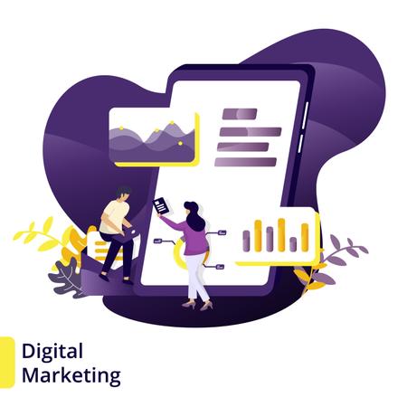 Illustration Digital Marketing Illustration