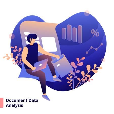Illustration Document Data Analysis Illustration
