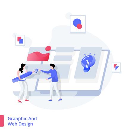 Illustration Graphic And Web Design Illustration