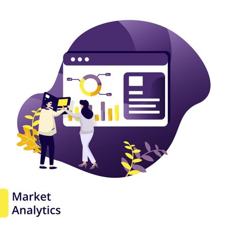 Illustration Market Analytic Illustration