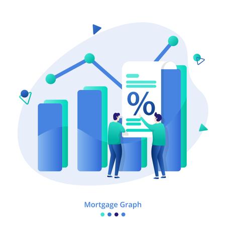 Illustration Mortgage Graph Illustration