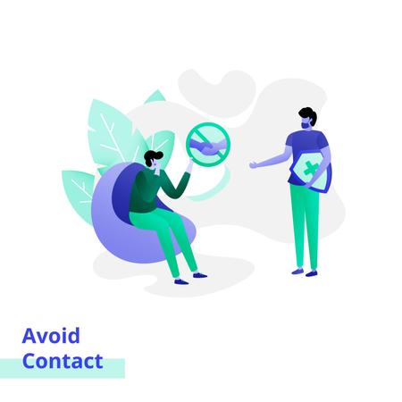Illustration of Avoid Contact Illustration