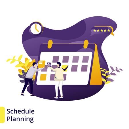 Illustration Schedule Planning Illustration