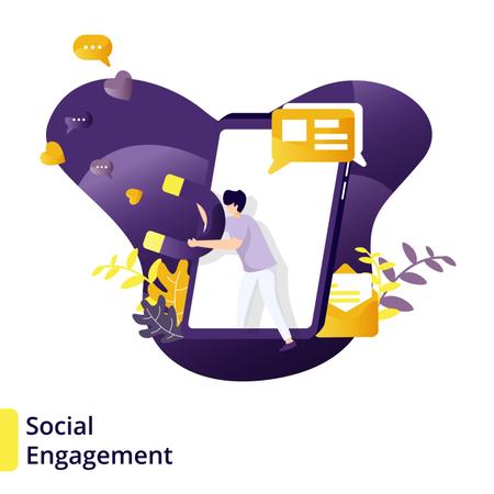 Illustration Social Engagement Illustration