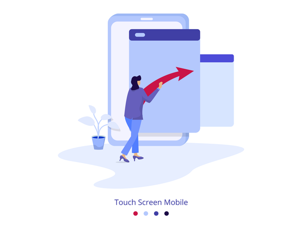 Illustration Touch Screen Mobile Illustration