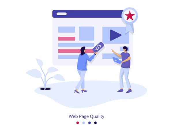 Illustration Web Page Quality Illustration