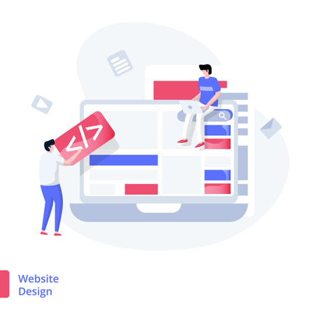 Illustration Website Design concept Illustration