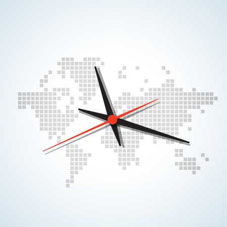 Image of a wall clock Illustration