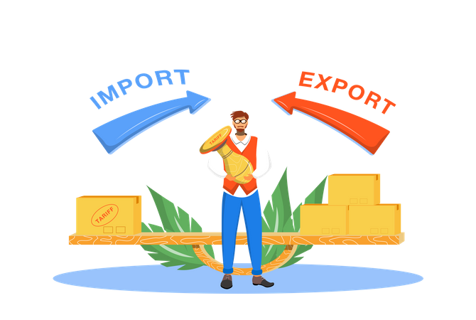 Import And Export Taxes Illustration