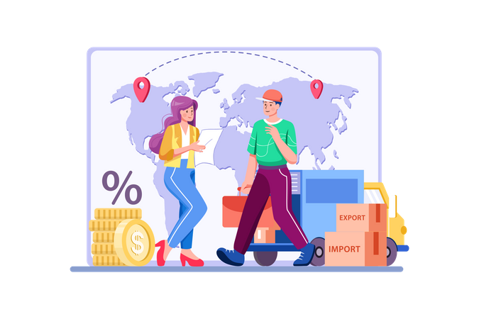 Import Export Service Illustration