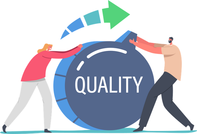 Increase Quality Level Illustration