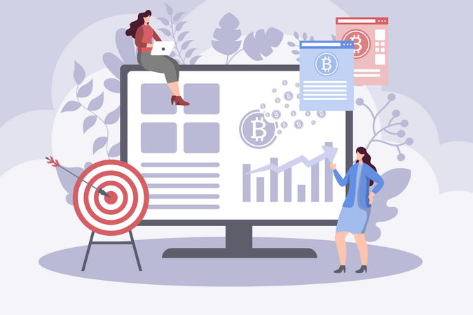 Increasing the value of bitcoin Illustration