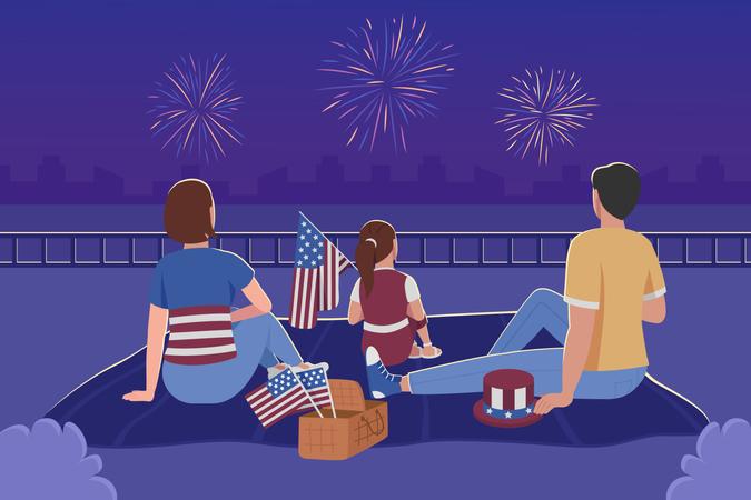 Independence day celebration Illustration
