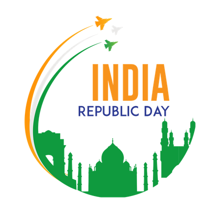India Republic day Illustration