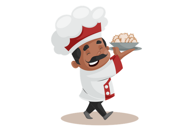Indian Chef Illustration