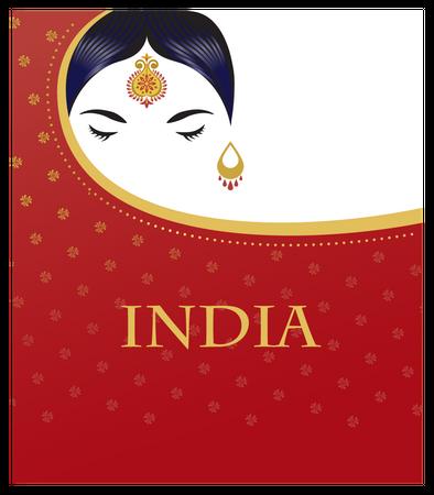 Indian culture poster Illustration
