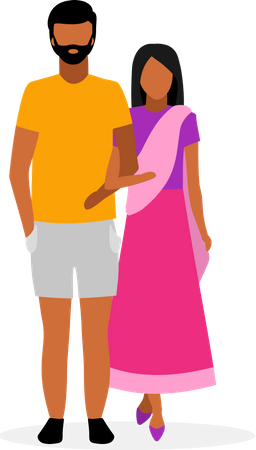 Indian family Illustration