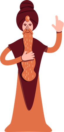 Indian guru Illustration