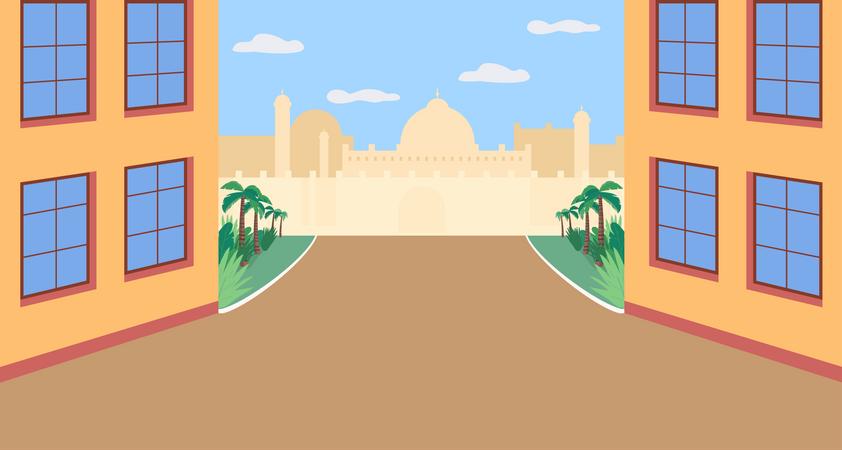 Indian plaza Illustration