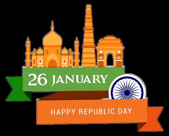 Indian Republic Day Illustration