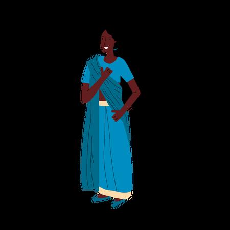 Indian woman Illustration