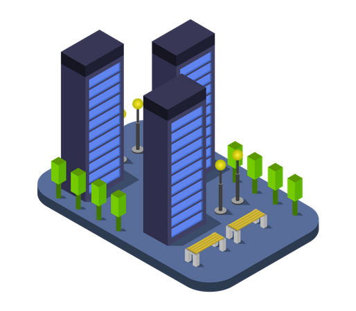 Industrial Building Illustration