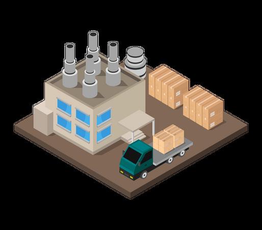 Industrial campus Illustration