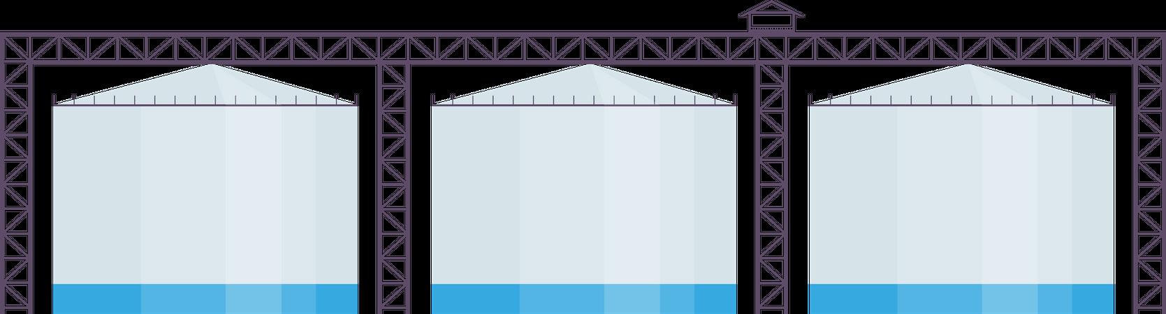 Industrial reservoirs Illustration