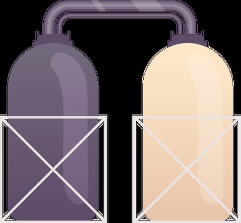 Industrial tanks Illustration