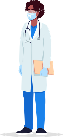 Infectious disease doctor Illustration