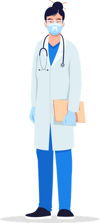 Infectious disease specialist Illustration