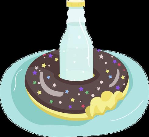 Inflatable donut Illustration